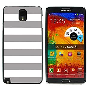 Graphic4You Color Stripes Pattern Design Hard Case Cover for Samsung Galaxy Note 3 (Gray)