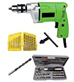 Non Branded Generic 10mm Drill Machine With Bits & 41Pcs Toolkit