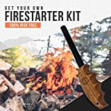 Wood Handle Fire Starter Ferro Rod Gift Set