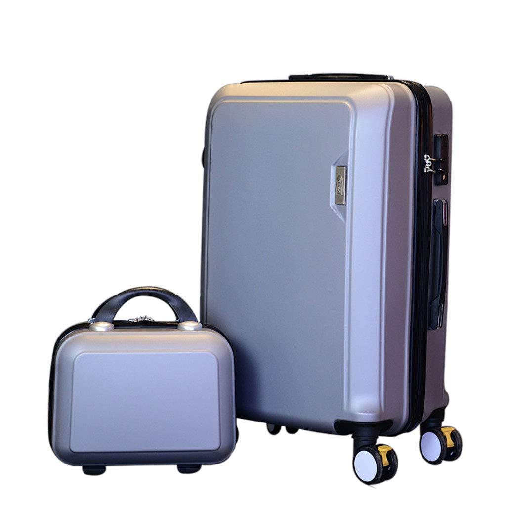 Mesurn JP 普遍的なスーツケース、Absの防水性とタフな素材、セグメント化された合金のタイロッド、サイズコンビネーショントロリーケース 20Inch silver B07P3L9BZF
