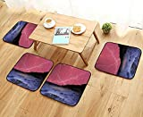 Modern Chair Cushions ThunderstoBolts with Vivid Sky Like Solar Lights Phenomenal Nature Convenient Safety and Hygiene W23.5 x L23.5/4PCS Set
