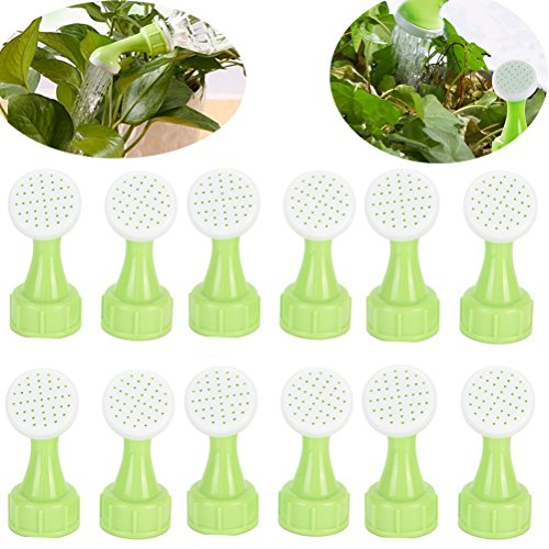 WWahuayuan 12Pcs Portable Bottle Cap Sprinkler Bottle Top Waterers Sprayers Household Watering Sprinkler Heads Plastic Watering Caliber Little Nozzle Sprinkler Mist for Plants Vegetables Gardening