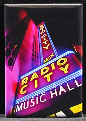 City Photos Radio Music Hall - Radio City Music Hall Photo Refrigerator Magnet. NYC