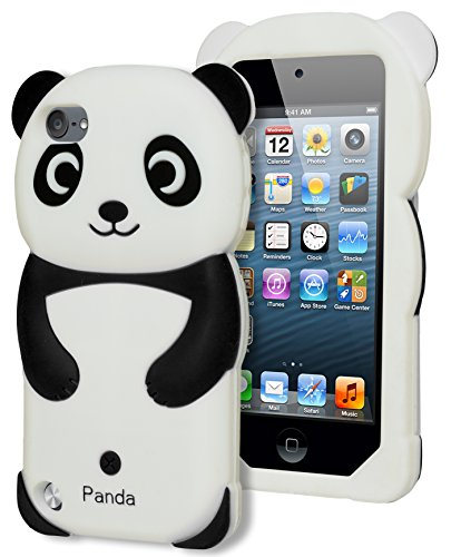 Bastex 3d Panda Bear Silicone Case for Apple Ipod Touch 5, 5th Generation - Black and White [Compatible with iPod Touch 6]