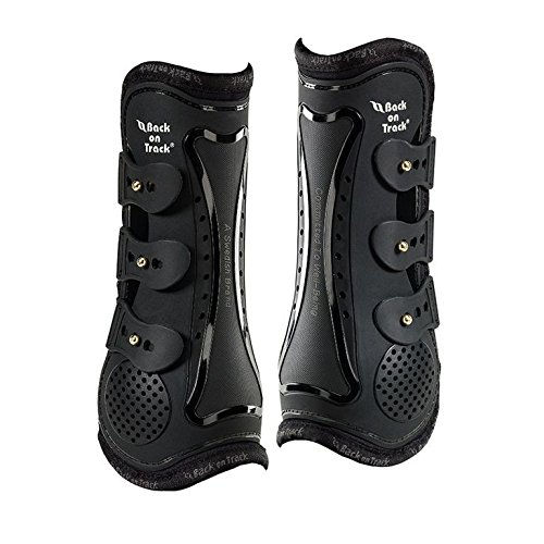 Back on Track Royal Tendon Boot (Open Front) - Horse/Large, Black