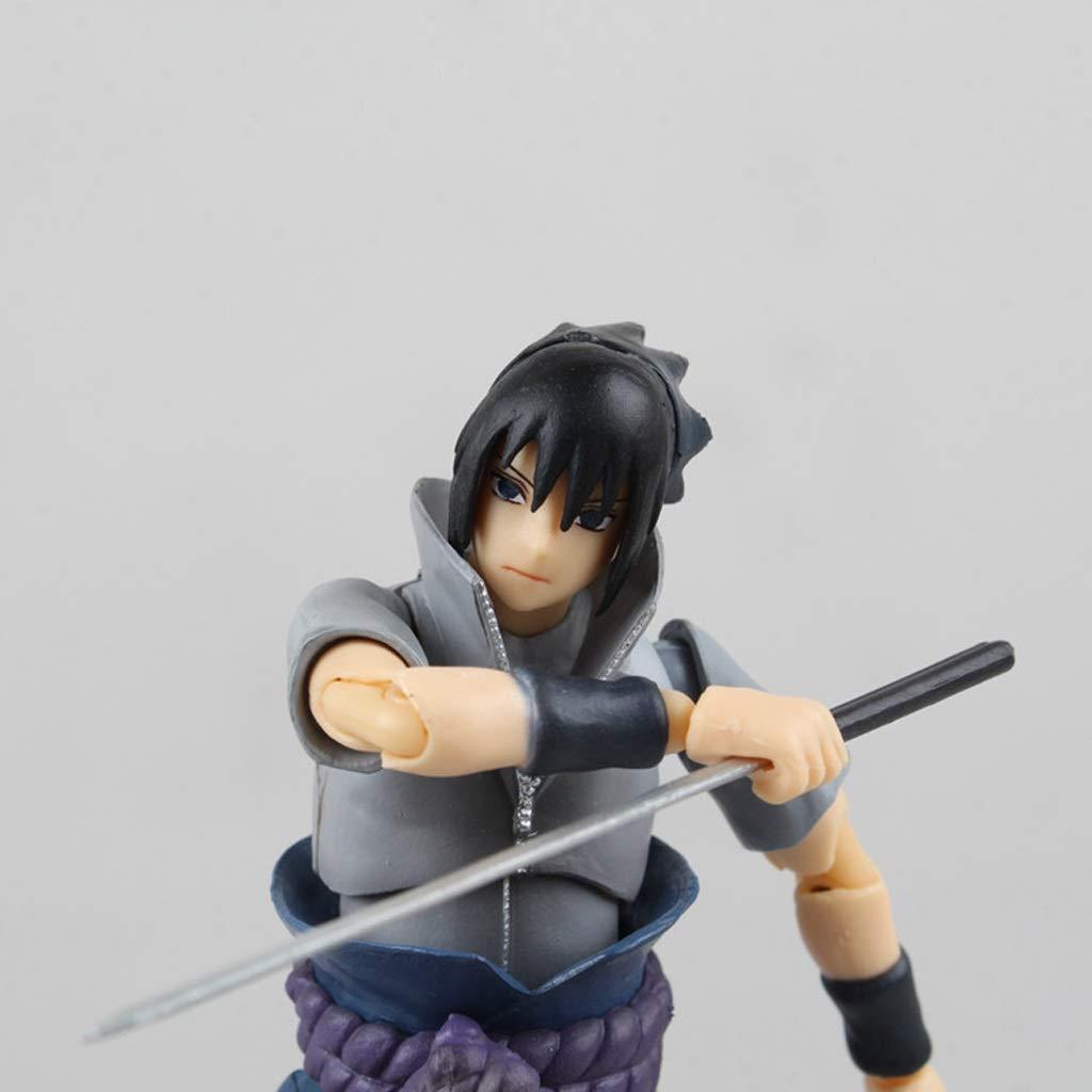 Itachi Battle Hohe 15CM Siyushop Naruto Shippuden Sasuke Uchiha Actionfigur - Ausgestattet Mit Waffen Und Austauschbaren H/änden
