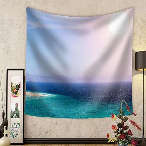 Niasjnfu Chen Custom tapestry Sandy Beach on the Island of Fuerteventura Canary Spain - Fabric Wall Tapestry Home Decor by Niasjnfu Chen