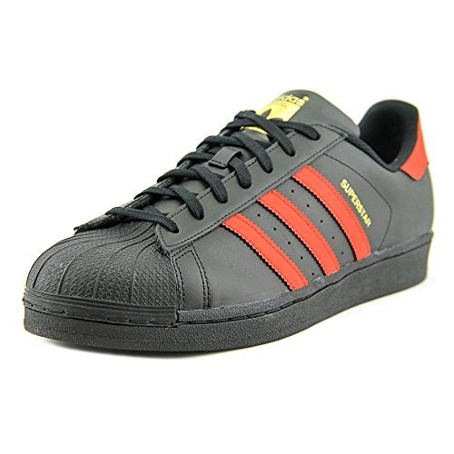 adidas Originals Men's Superstar, Cblack,Scarle,Goldmt-S80694, 10 Medium US