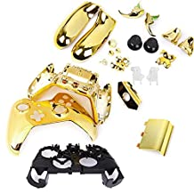 SODIAL(R) Metal-Plated Solid Case Case Replacement Parts Set for Xbox One Wireless Controller - gold