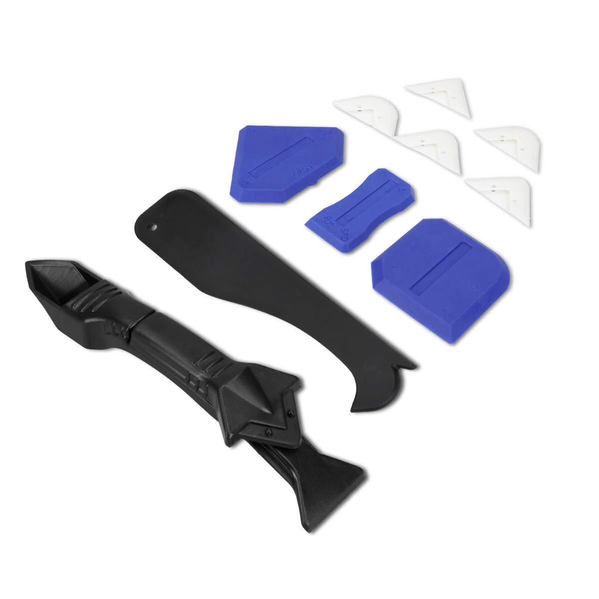 Esp/átula aplicador rascador rasqueta y alisador Kit para reparar juntas de ba/ño Navaris Set de 10 herramientas para aplicar y quitar silicona