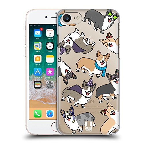 Head Case Designs Corgi Dog Breed Patterns Hard Back Case Compatible for iPhone 7 / iPhone 8