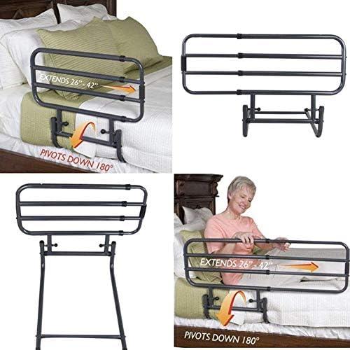 ZCXBHD サイド手すり、シニアキング女王ツインサイズベッド高齢者については、調節可能なベッドレール、ホームベッドサポートハンドルの安定性グラブバー