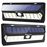 SUNTOLL Solar Lights Outdoor, 30 LED Super Bright Step Light, Solar Motion Sensor Security Light, Wireless Waterproof Wall Lights for Front Door, Garden, Garage, Path and Patio Lighting (2 Pack)