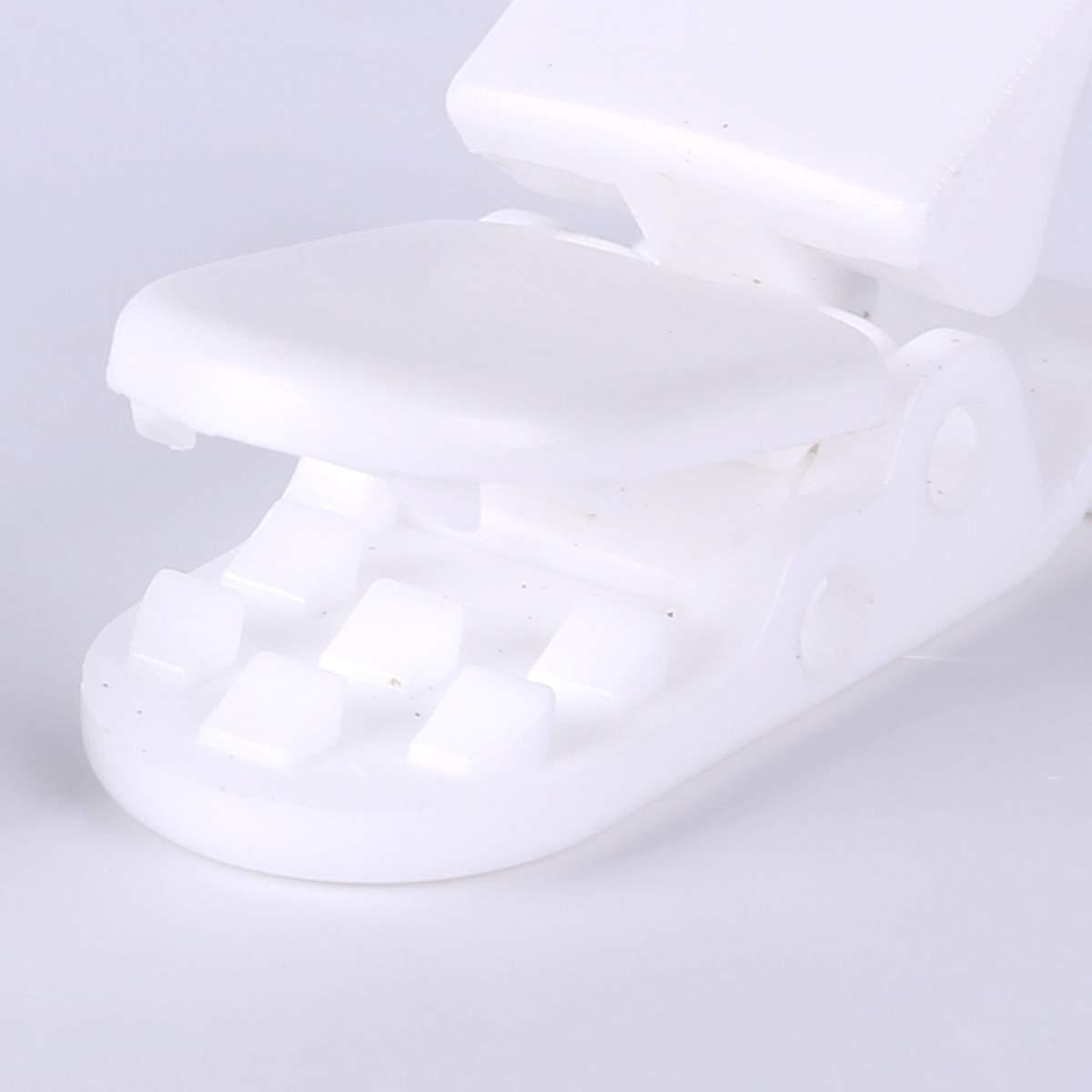 CLE DE TOUS@ 50pcs Pinza para chupetero de KAM plástico color blanco