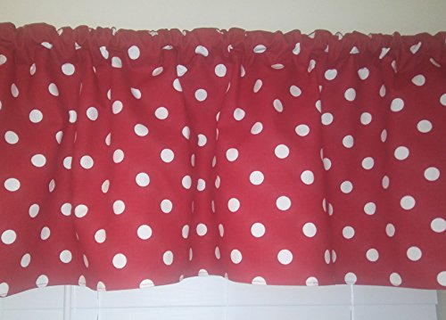 red-and-white-polka-dots-valance-curtain-window-treatment-room-decor-kitchen-rv-guest-room-kids-play
