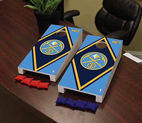 Victory Tailgate Denver Den Nuggets NBA Basketball Desktop Cornhole Game Set Diamond Version by Victory Tailgate