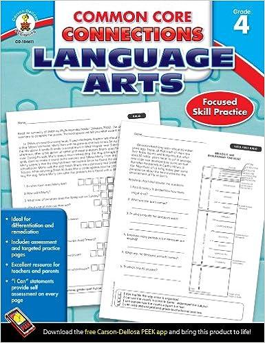 Amazon.com: Common Core Connections Language Arts, Grade 4 ...