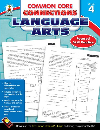 Common Core Connections Language Arts, Grade 4