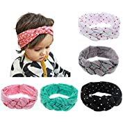 Globalsupplier Celtic Knot Headband for Baby Girl Newborn Infant Kids Toddlers (5 PCS PACK S2)