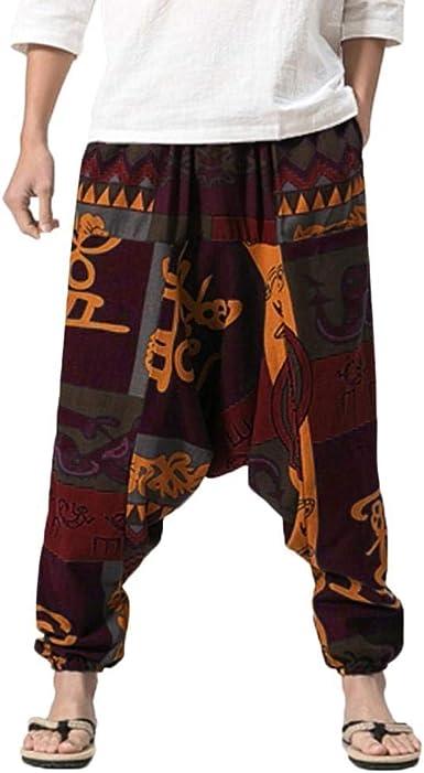 Pantalones De Harén Bombachos Hombre Mujer,ZARLLE Unisex para Yoga ...