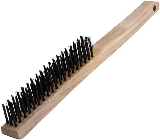 Warner 13-5//8 3x19 Row 11081 Wood Handle Wire Brush w//Scraper