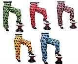 50pcs Elephant Design Printed Trouser Baggy Genie Harem Pants Boho Hippie Gypsy India Wholesale Lot (Multi-50pcs )