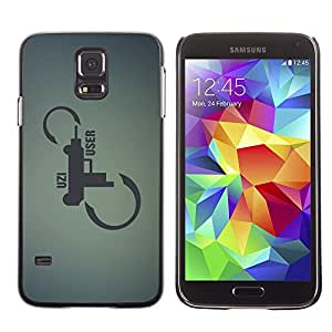 Be Good Phone Accessory // Dura Cáscara cubierta Protectora Caso Carcasa Funda de Protección para Samsung Galaxy S5 SM-G900 // Shotgun Pistol Revolver Art Infinity Quote