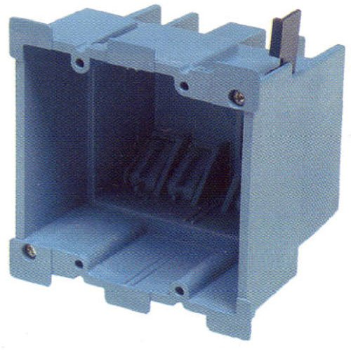 Carlon BH234R Outlet Box, Old Work, 2 Gang, 3-7/8-Inch Length by 2-3/8-Inch Width by 3-5/8-Inch Depth, Blue (Work Box Old Carlon)