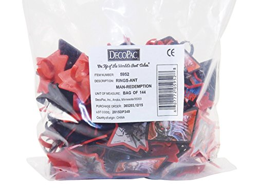 Cupcake Toppers, Marvel Avenger Rings, Ant Man 1728 Pcs Party Favors, Grab Bags. by Tom David Lewis (Image #8)