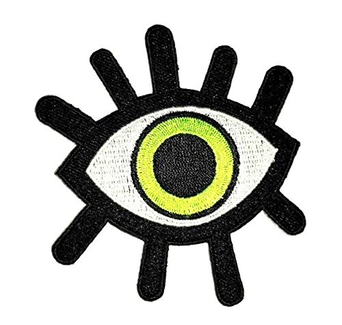 Green Eye eyeball Wicca occult Patches of Applique Embroidered patches - Iron on Patches by - Name First Ferrari