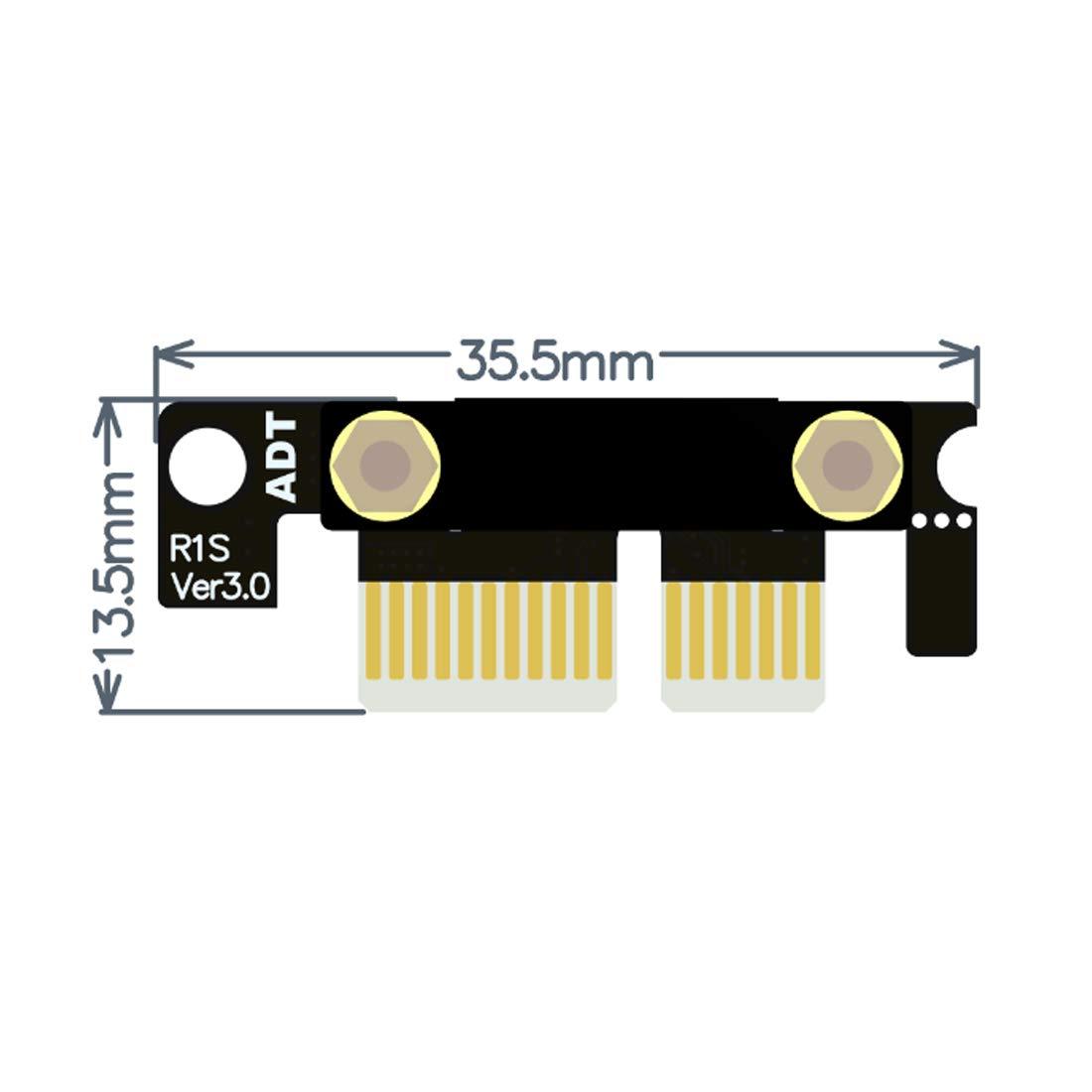 ADT-Link Double c/âble dextension PCIe 3.0 /à Angle Droit 90 degr/és sur 2 x 1 /à x1 R11SL-TL Extension de Ruban pour Carte de Connexion Verticale PCI Express 1x Haute 40cm