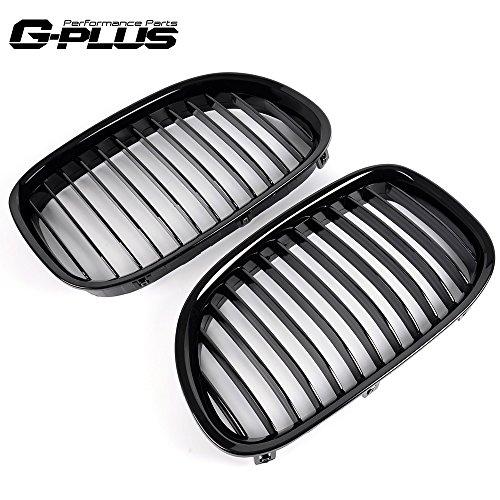 Gloss Black Front Bumper Hood Kidney Grille Grill Fit For BMW 7Series/F02 F01 730LI 740LI 750I ()