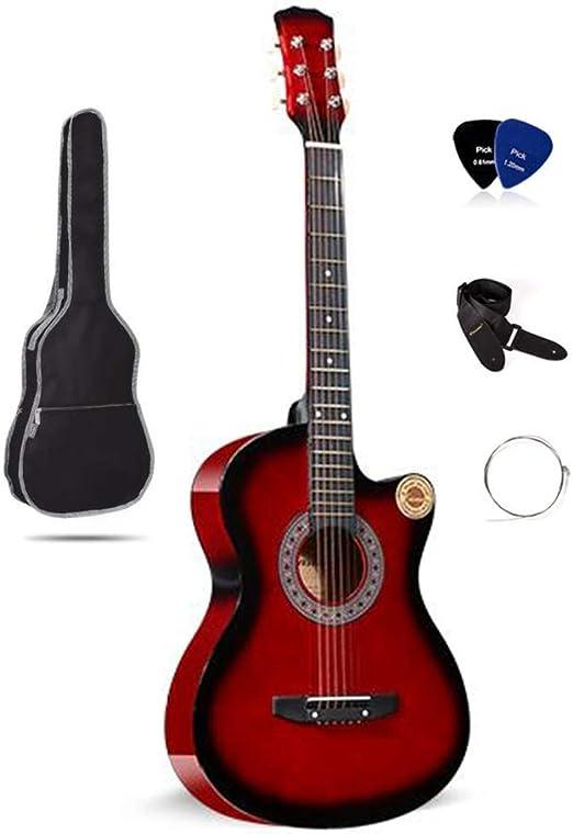 BAIYING-Guitarra Acústica , Balada Guitarra De Madera 38 Pulgadas ...
