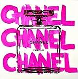 シェーンボーデン キャンバスプリント シルクスクリーン CHANEL CHANEL CHANEL 91 x 91cm 白 C-1 (ラージ)
