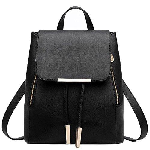 en bandoulière à d'arrivée sacs des femmes Sac Noir d'école cuir Nouveaux Sac Voyage FEITONG Noir à dos zUxdwwq61