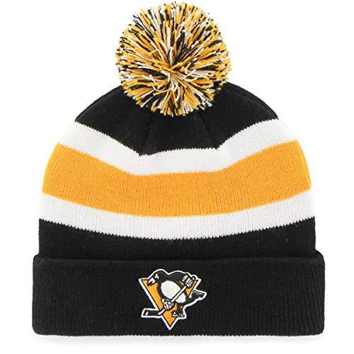 Fan Favorite NHL Pittsburgh Penguins Retro Breakaway Stocking Hat Beanie with Pom -