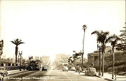 Colorado Boulevard Pasadena, California Original Vintage - Pasadena Colorado Boulevard