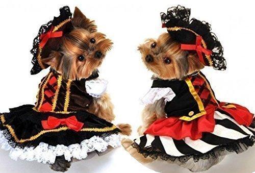 Fancy Me Costume Cane pirata, per cani gatti, taglia S-XL.