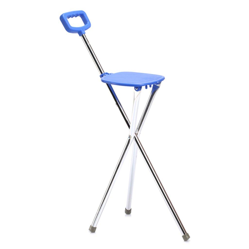 Bâton de marche pliable / béquille de marche Bâton de siège pliant plat avec poignée en éponge pour hommes ou femmes Canapé de mobilité pour personnes âgées e