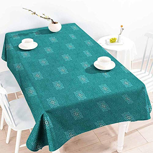 familytaste Moroccan,Table Cloth for Outdoor Picnic Timeless Motifs of The Orient with Geometric Composition Far East Asia 60