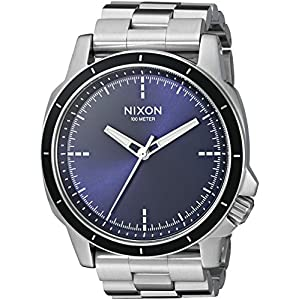 Nixon Men's 'Ranger Ops' Quartz Stainless Steel Automatic Watch, Color:Silver-Toned (Model: A9131258-00)
