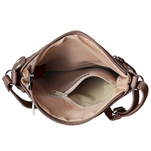CASPAR Fashion - Bolso cruzados para mujer - caqui