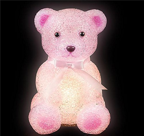 DollarItemDirect 8'' SPARKLE TEDDY BEAR LAMP, Case of 12