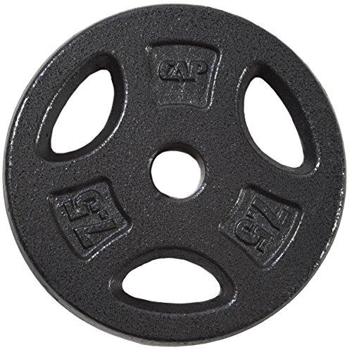 CAP Barbell Standard Grip Plate, Black, 7.5 lb (1 Plates Inch)