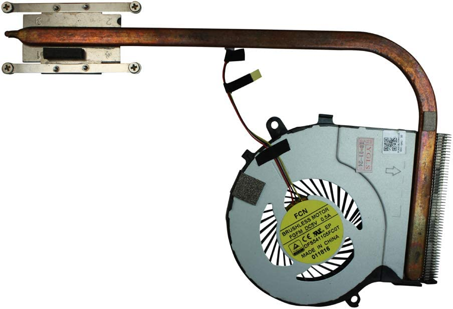 Power4Laptops Integrated Graphics Version Replacement Laptop Fan with Heatsink for Toshiba Satellite S55-C5262, Toshiba Satellite S55-C5274, Toshiba Satellite S55-C5274D, Toshiba Satellite S55-C5363