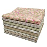 iNee Light Coffee Fat Quarters Fabric Bundles, Quilting Sewing Fabric, 18 x 22 inches,(Light Coffee) Larger Image