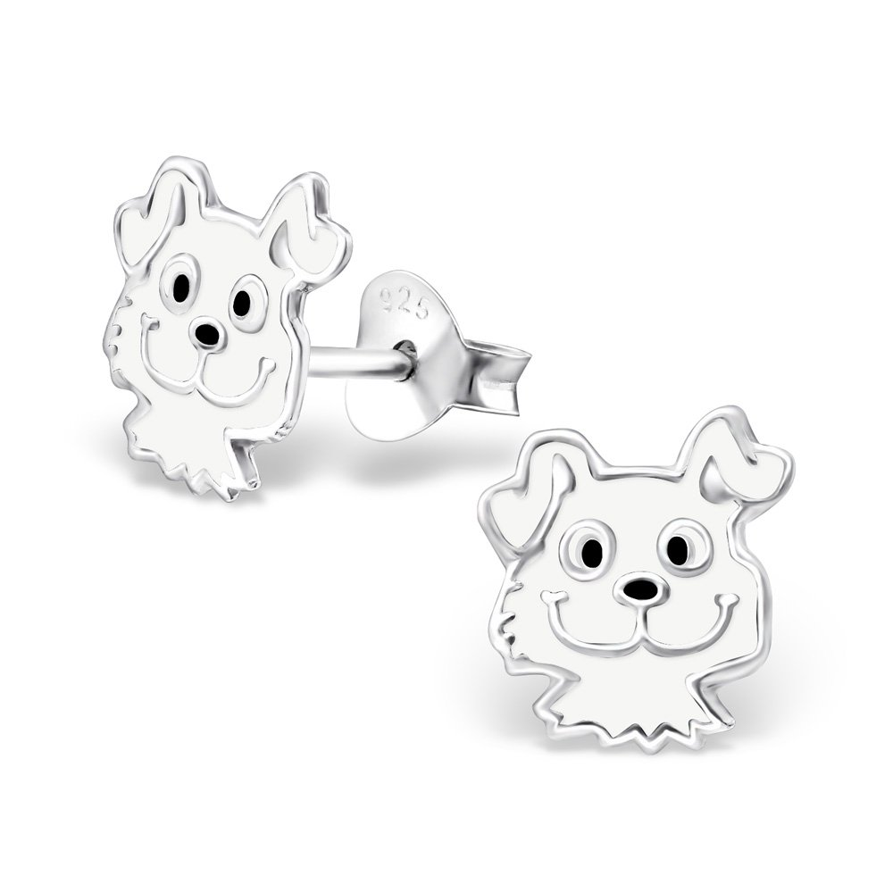 Hypoallergenic Dog Stud Earrings for Girls (Nickel Free and Safe for Sensitive Ears)