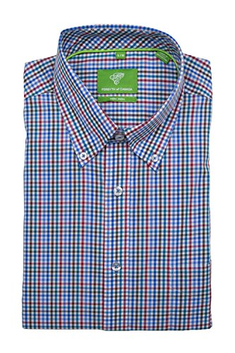 Forsyth of Canada Classic Fit Non-Iron Short Sleeve Multi Check Sport Shirt