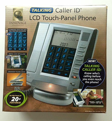 Lcd Touch Panel Phone - Innovage Talking Caller ID LCD Touch Panel Phone