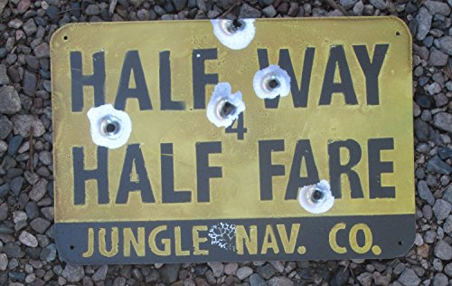Half Way for Half Fare - Disneyland Jungle Cruise Inspired Metal - Hut Jungle